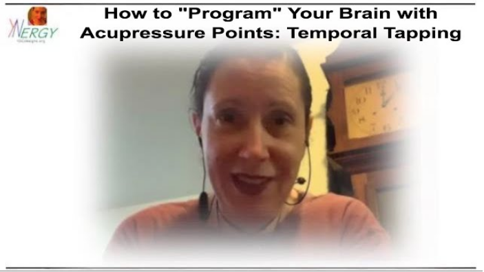 Screen shot from video #243 (How to program your brain with temporal tapping)