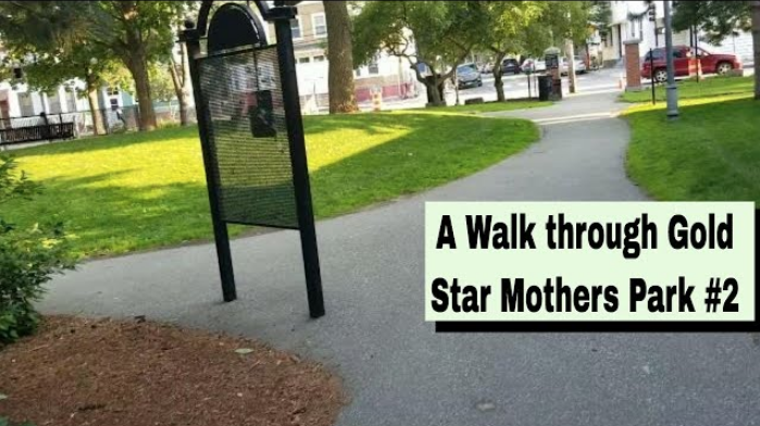 A screenshot of the exit out of Gold Star Mothers' Walk into East Cambridge, MA